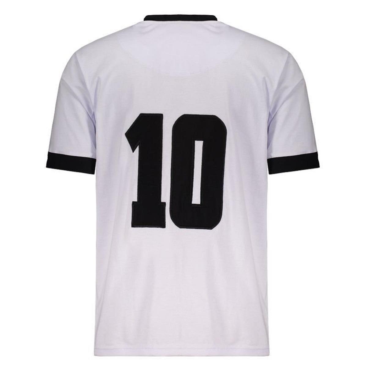 Camisa Alemanha Ocidental Retrô 1954 N° 10 Masculina - Branco ... 3b80771955776