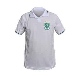 Camisa América Mineiro Retrô Polo Branca Basic