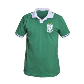 Camisa América Mineiro Retrô Polo Verde Basic