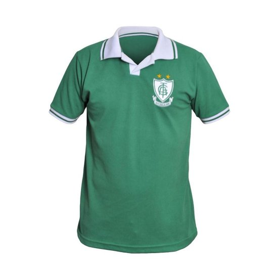 Camisa América Mineiro Retrô Polo Verde Basic - Verde escuro