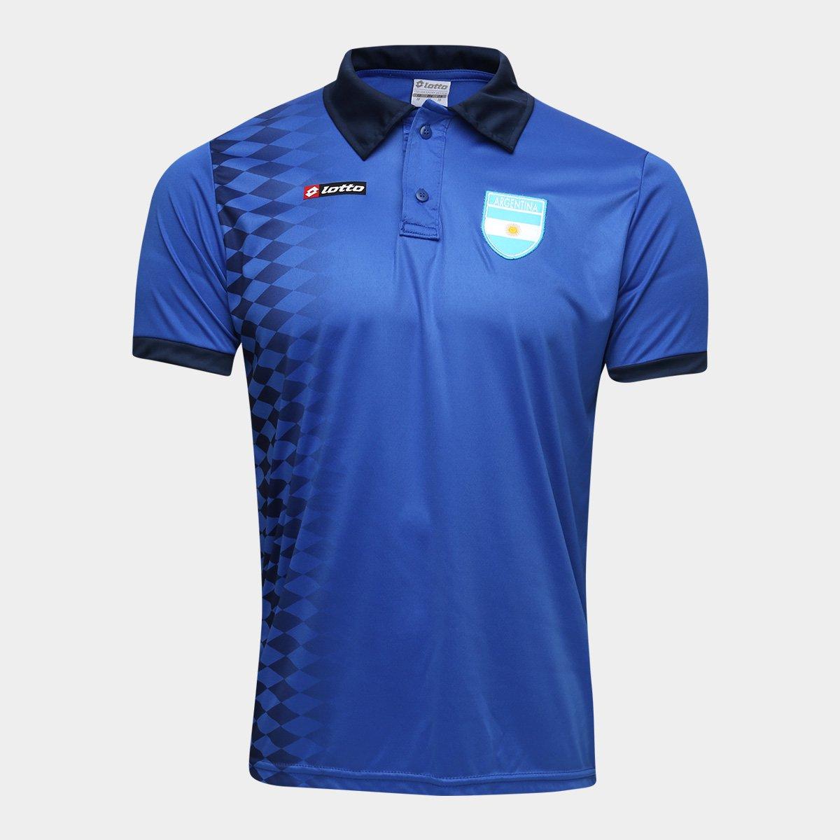 bbf6c68ecac73 Camisa Argentina 1994 n° 10 Lotto Masculina - Azul e Marinho - Compre Agora