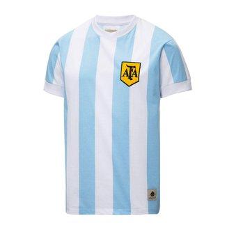 Camisa Argentina Retrô 1986 Maradona Masculina