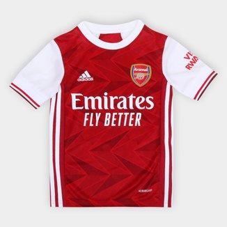 Camisa Arsenal Infantil Home 20/21 s/nº Torcedor Adidas