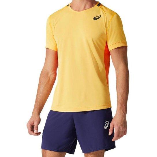Camisa ASICS Match - Masculina - Amarelo - tam: 3G Asics - Amarelo