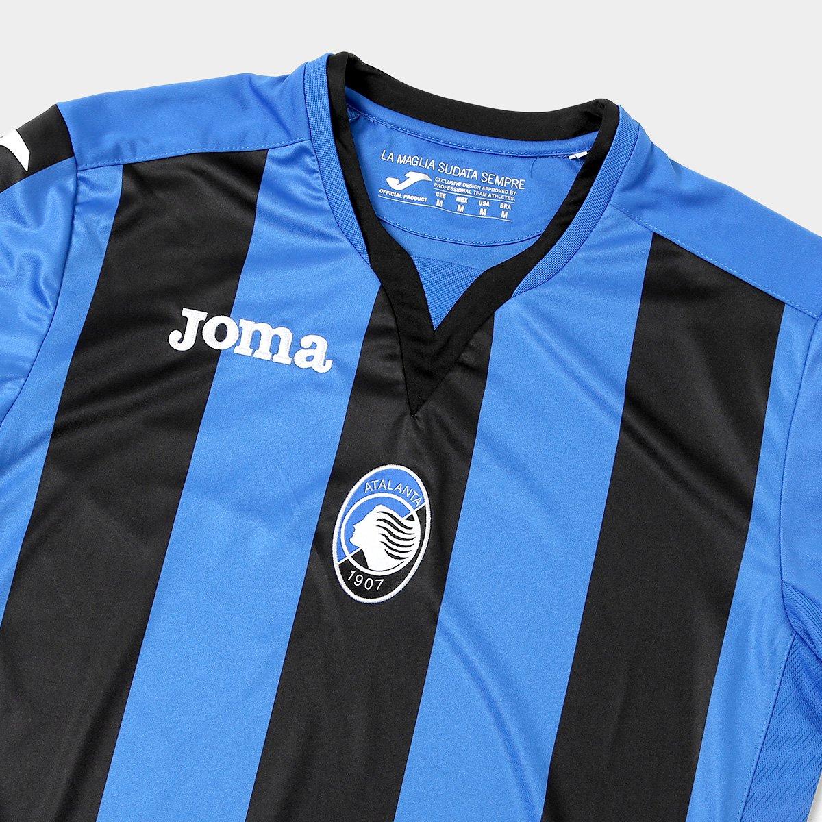 b7e037e1ba Camisa Atalanta Home 17 18 s n°- Torcedor Joma Masculina - Azul e ...