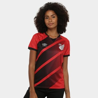 Camisa Athletico Paranaense I 20/21 s/n° Estádio Umbro Feminina
