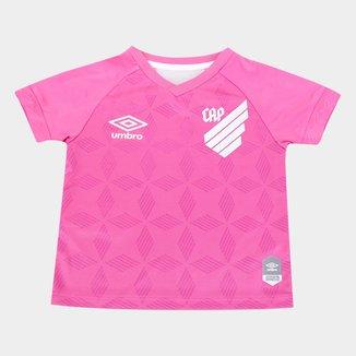 Camisa Athletico Paranaense Infantil Outubro Rosa 20/21 s/n° Torcedor Umbro