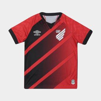 Camisa Athletico Paranaense Juvenil I 20/21 s/n° Torcedor Umbro