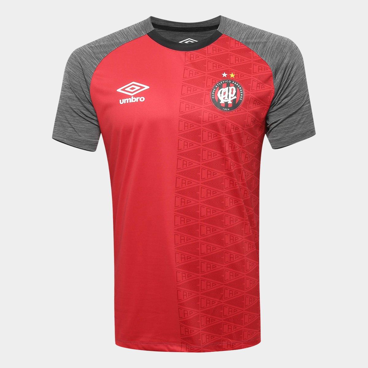 Camisa Athletico-PR Aquecimento 2018 Umbro Masculina - Preto e ... 63e1ba9b86610