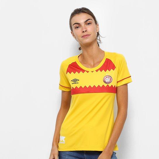 Camisa Athletico-PR II 2018 s/n° El Huracán Torcedor Umbro Feminina - Amarelo+Vermelho