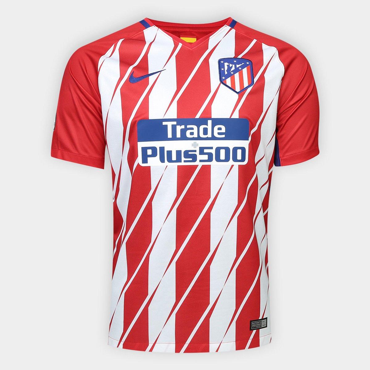 b20bf9095d Camisa Atlético de Madrid Home 17 18 s n° - Torcedor Nike Masculina - Compre  Agora
