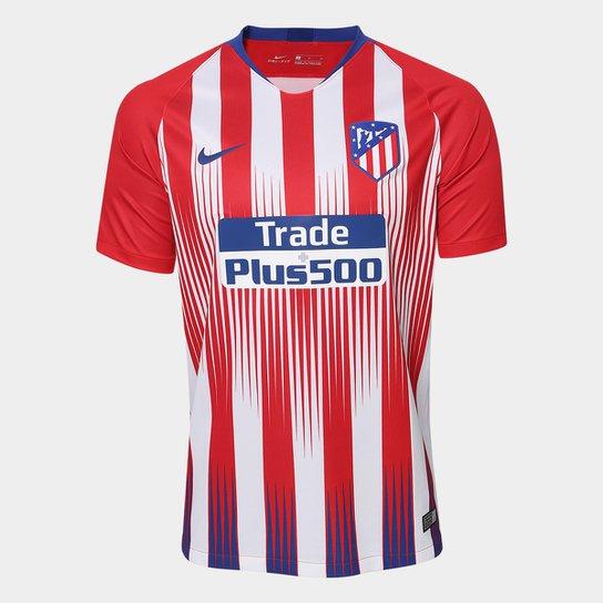Camisa Atlético de Madrid Home 2018 s/n° - Torcedor Masculina - Vermelho+Branco