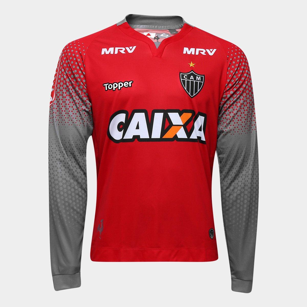 Camisa Atlético-MG Goleiro II 17 18 Manga Longa nº 1 - Torcedor Topper  Masculina - Compre Agora  ef64112a37540
