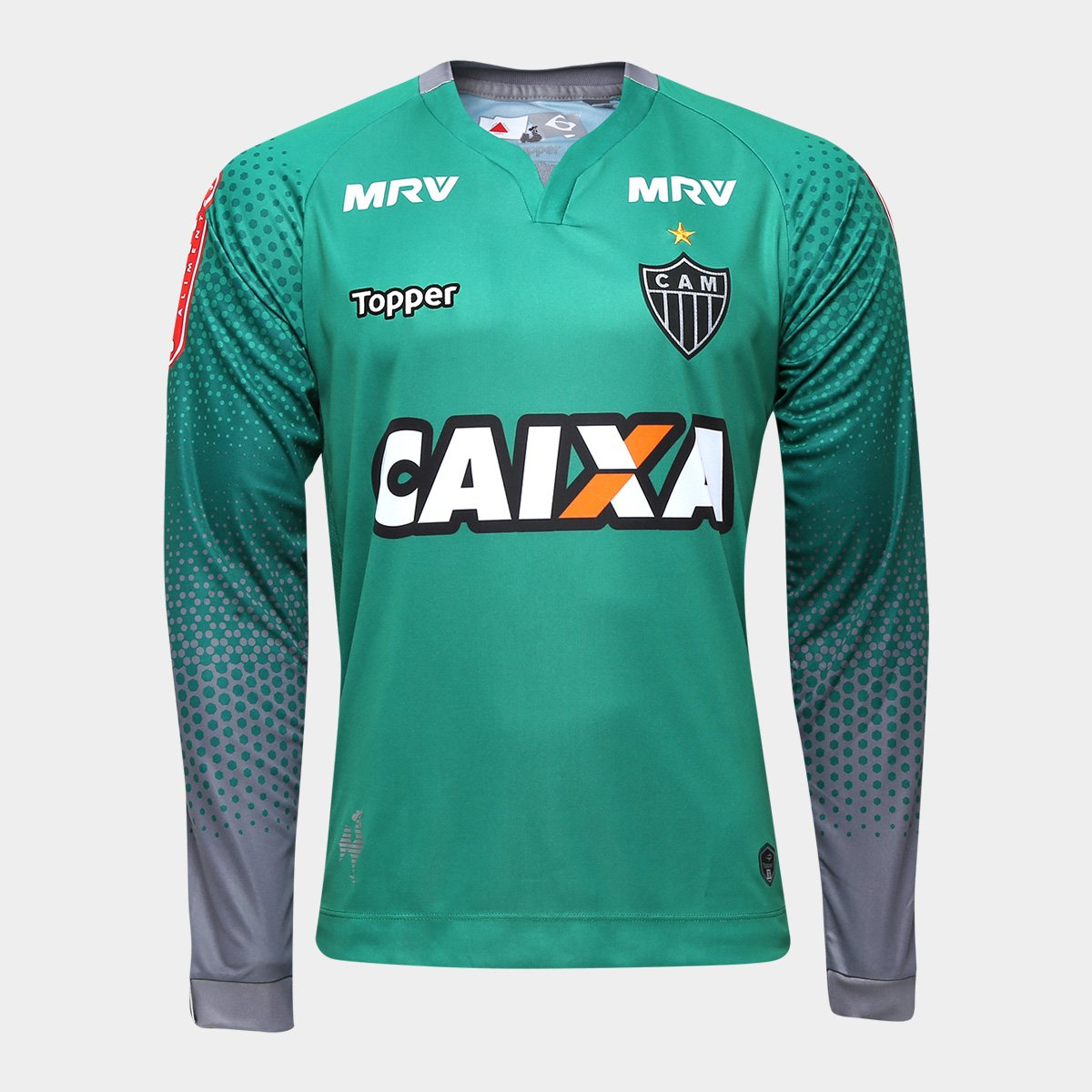 8fb186f869 Camisa Atlético-MG Goleiro III 17 18 Manga Longa nº 1 - Torcedor Topper  Masculina - Compre Agora