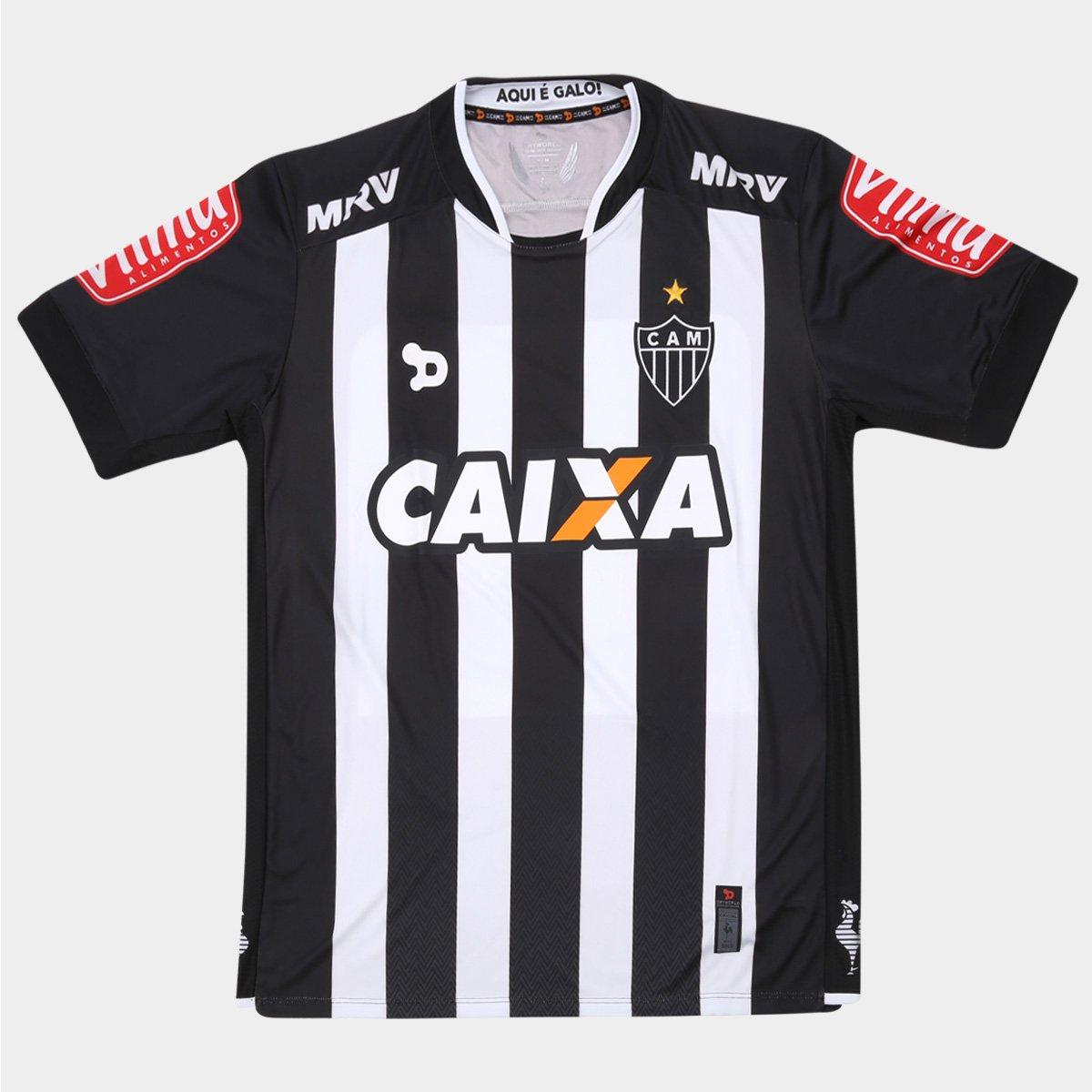 48e2910ee Camisa Atlético-MG I 2016 s nº Torcedor Dryworld Masculina - Compre Agora