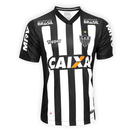 Camisa Atletico Mg I 2018 S N Torcedor Topper Masculina Preto E Branco Netshoes