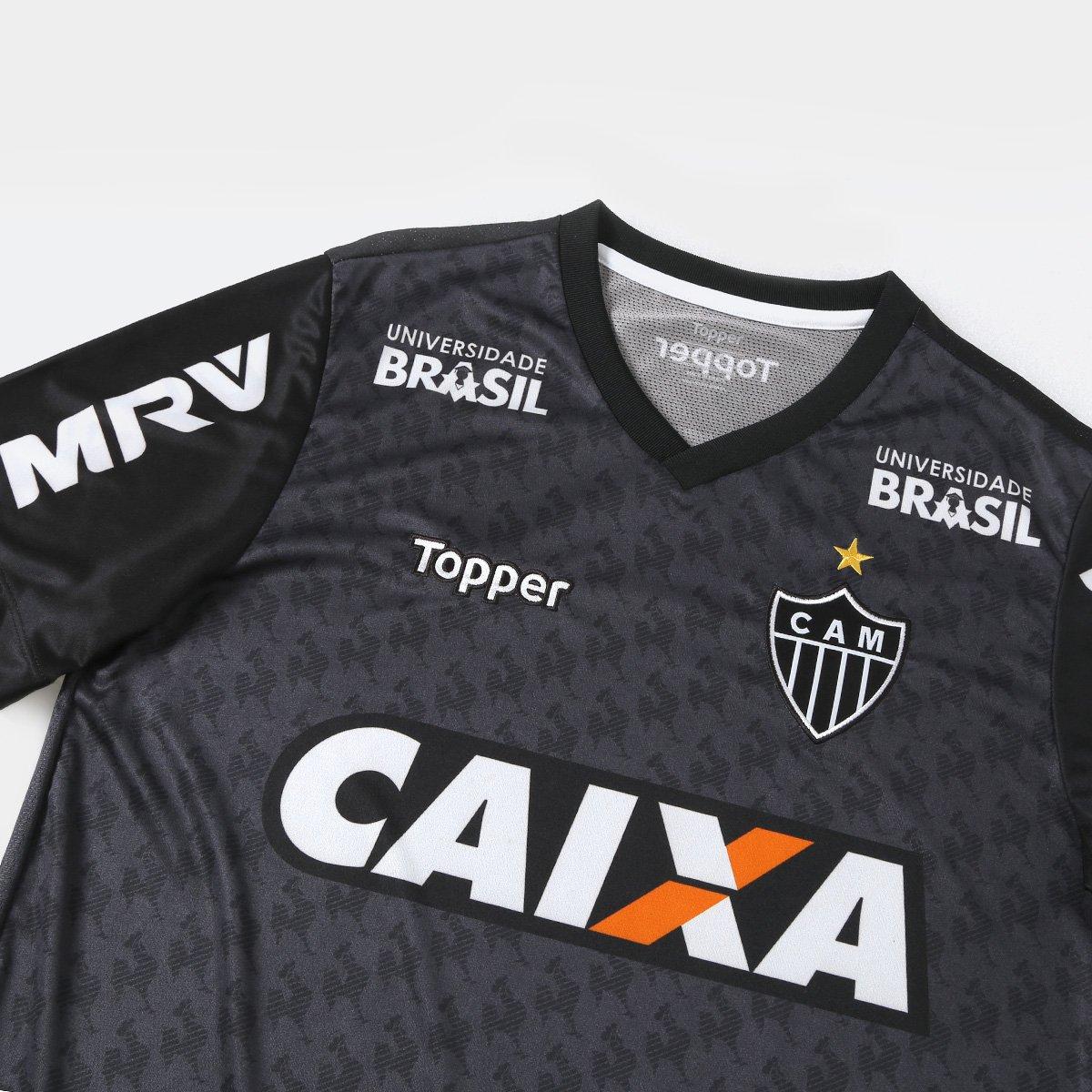 Camisa Atlético-MG Treino 2018 Topper Masculina - Compre Agora ... 3a220893abfc9