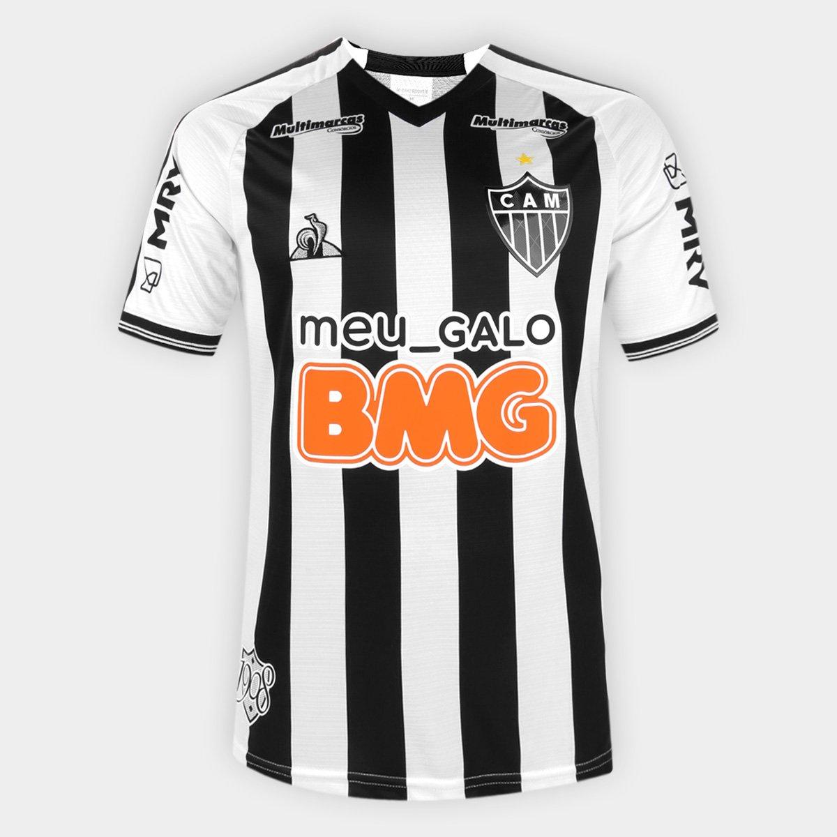 Camisa Atletico Mineiro I 20 21 S N Torcedor Le Coq Masculina Preto E Branco Netshoes