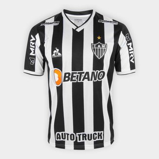 Camisa Atlético Mineiro I 21/22 s/nº Torcedor Le Coq Masculina - Preto e Branco