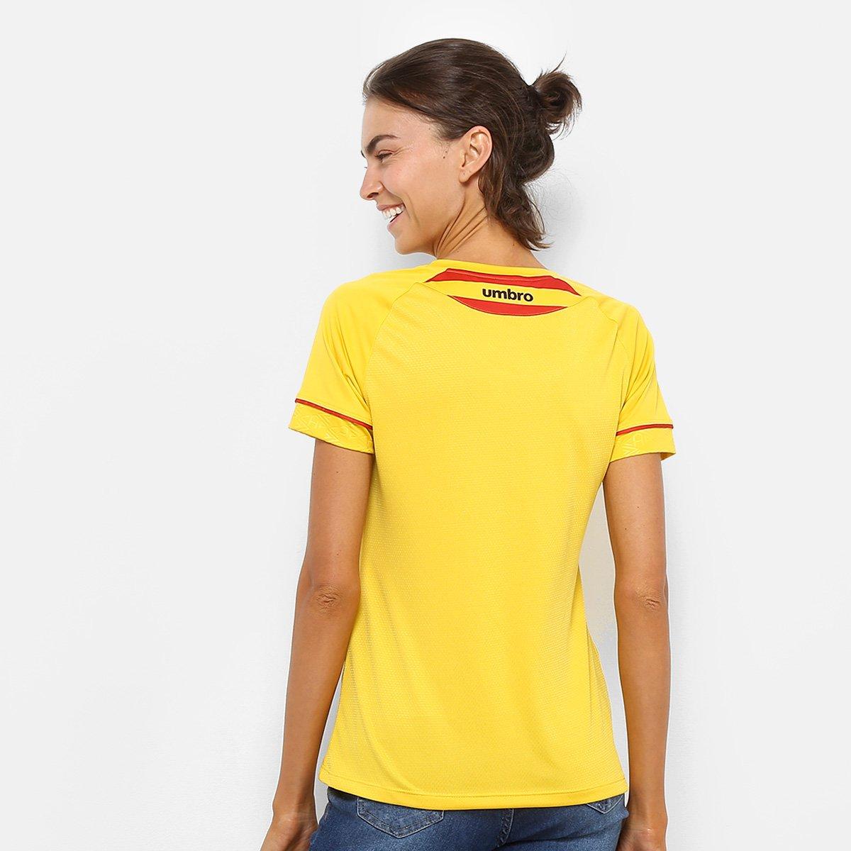 n° El PR Vermelho II Amarelo s Umbro Feminina e Torcedor Huracán Atlético 2018 Camisa qw6HxFAXX