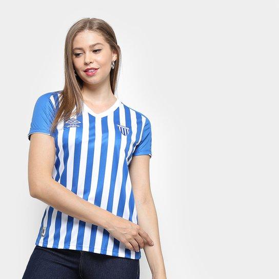 Camisa Avai I 19/20 s/nº Umbro Feminina - Azul Royal+Branco