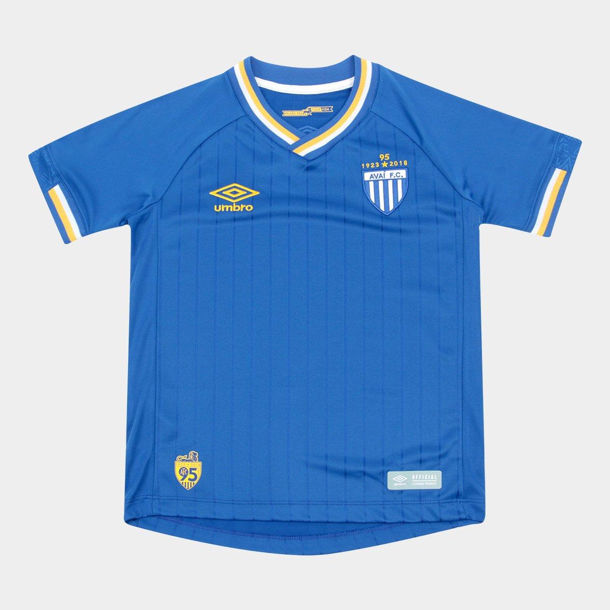 d425c5503125c Camisa Avai Infantil III 2018 s n° Torcedor Umbro - Azul e Branco - Compre  Agora