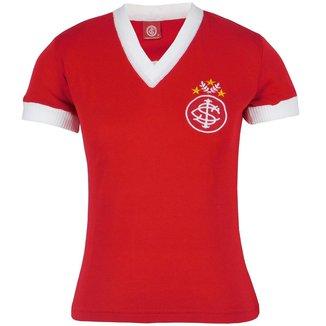 Camisa Baby Look Feminina Retrô Internacional Gola V Nº 5