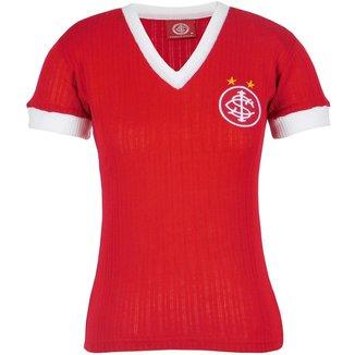 Camisa Baby Look Feminina Retrô Internacional Gola V Nº 7