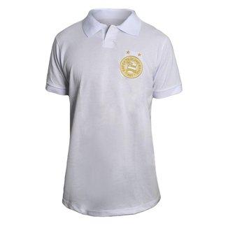 Camisa Bahia 2021 Polo Retrô Gold Branca Oficial