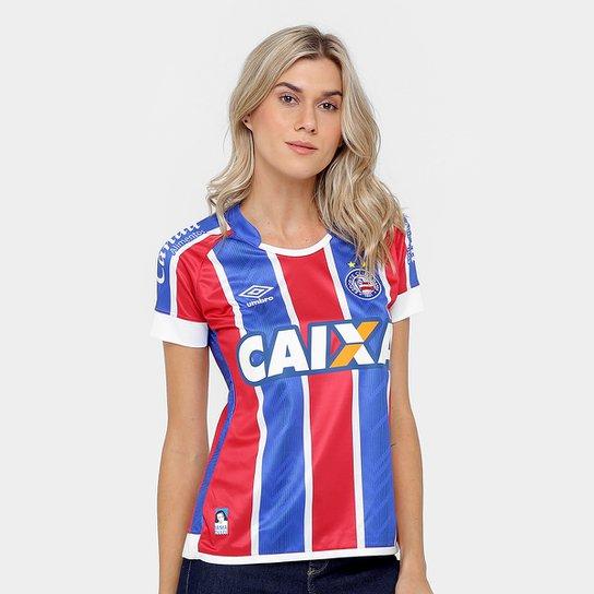 Camisa Bahia II 17/18 nº 10 - Torcedor Umbro Feminina - Vermelho+Branco
