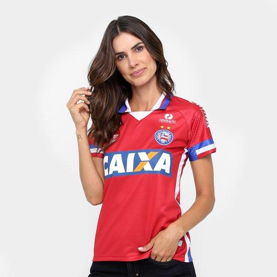 Camisa Bahia III 17/18 s/n° - Torcedor Umbro Feminina - Vermelho+Azul