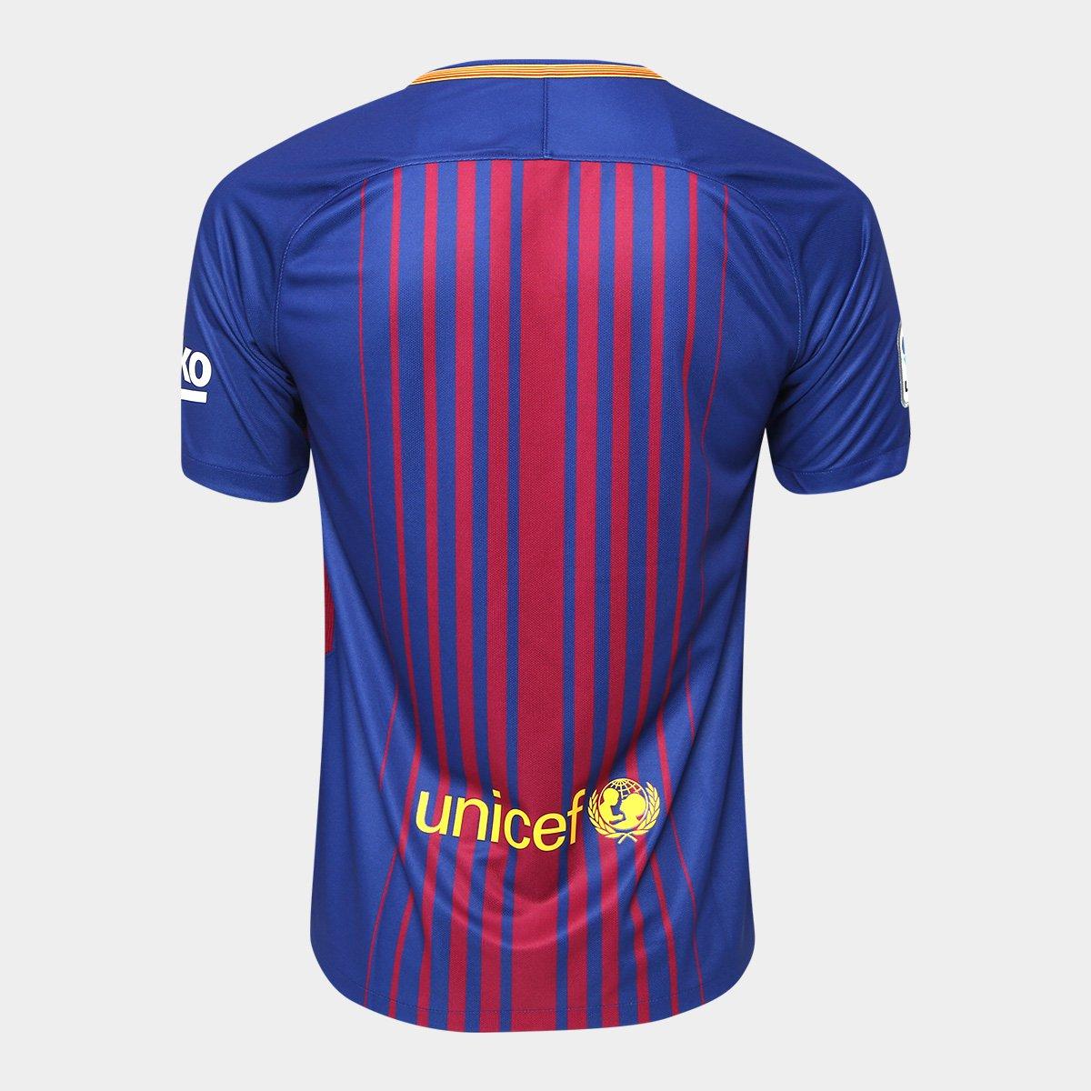 dc76d3a973 Camisa Barcelona Home 17 18 s nº Torcedor Nike Masculina - Azul ...