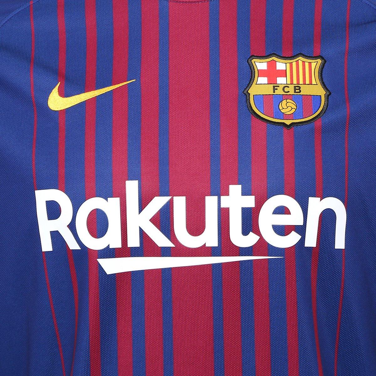 1f08b9d89e83a Camisa Barcelona Home 17 18 s nº Torcedor Nike Masculina - Azul ...