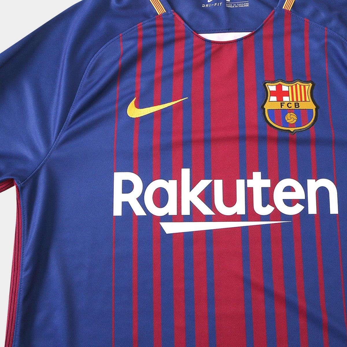 ac76f332d0 Camisa Barcelona Home 17 18 s nº Torcedor Nike Masculina - Azul ...