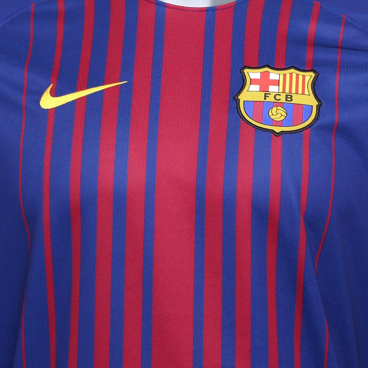 Camisa Barcelona Home 17 18 s nº Torcedor Nike Masculina - Compre ... e0b81c2690b5d