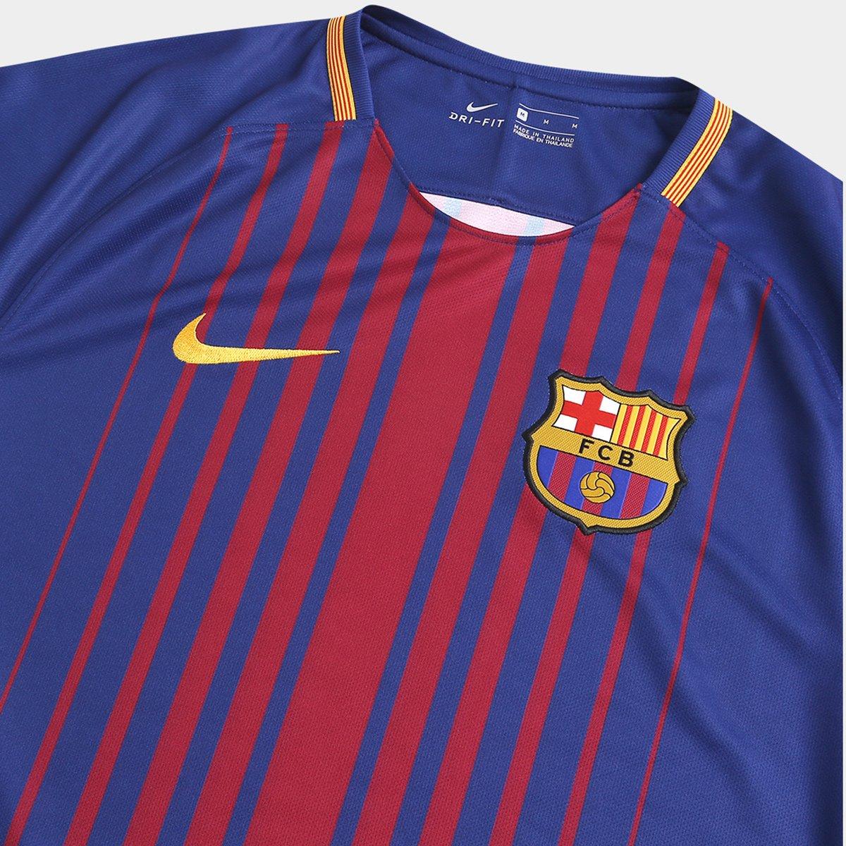 61b964405b Camisa Barcelona Home 17 18 s nº Torcedor Nike Masculina - Compre ...