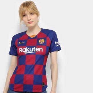 Camisa Barcelona Home 19/20 s/nº Torcedor Nike Feminina