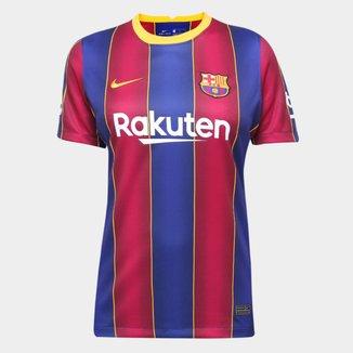 Camisa Barcelona Home 20/21 s/n° Torcedor Nike Feminina