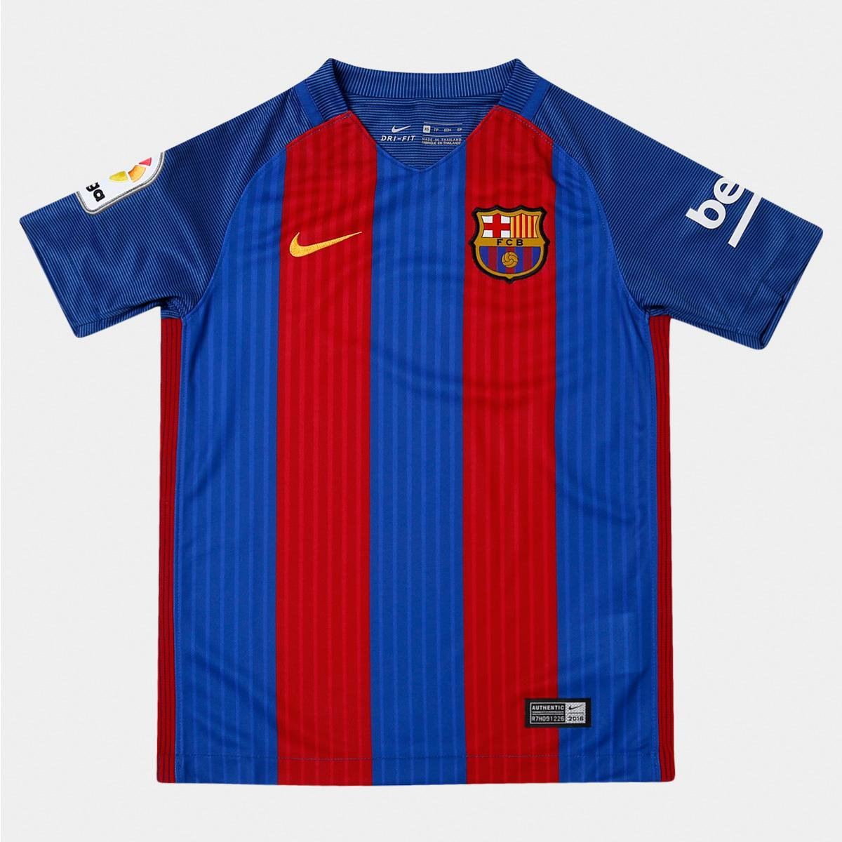 Camisa Barcelona Infantil Home 16 17 s nº Torcedor Nike - Compre ... 7d1e792a2d3dc
