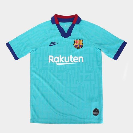 Camisa Barcelona Infantil Third 19/20 s/nº Torcedor Nike - Marinho