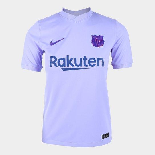 Camisa Barcelona Juvenil Away 21/22 s/n° Torcedor Nike - Roxo