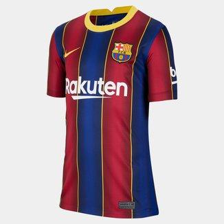 Camisa Barcelona Juvenil Home 20/21 s/n° Torcedor Nike
