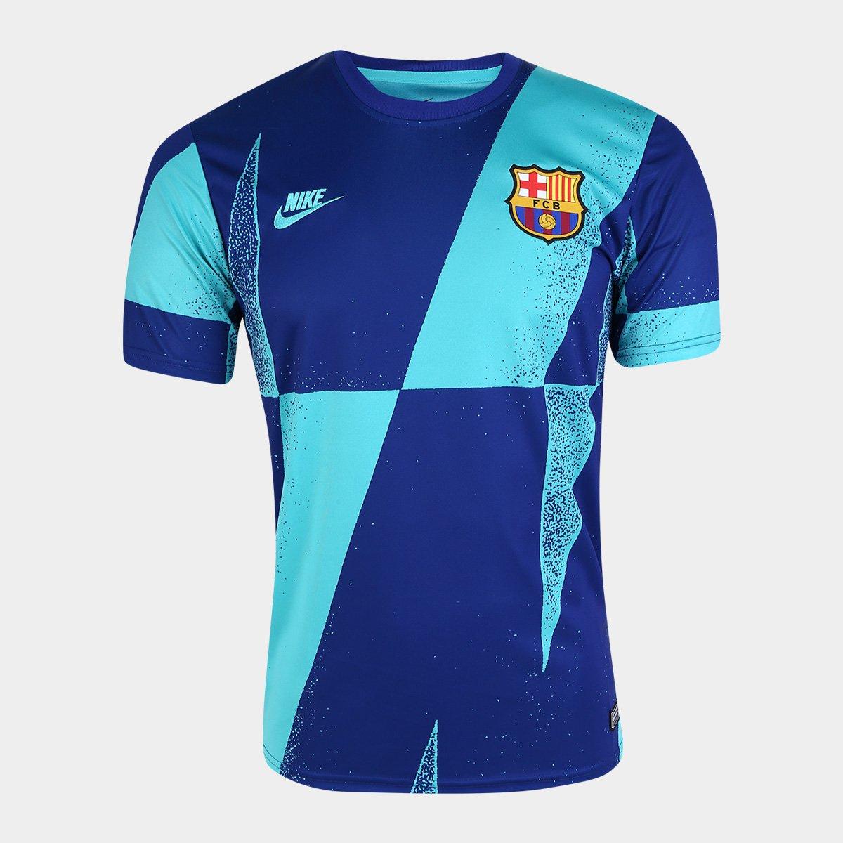 descuento de venta caliente envio GRATIS a todo el mundo moderno y elegante en moda Camisa Barcelona Nike Dry SS Masculina - Azul Royal