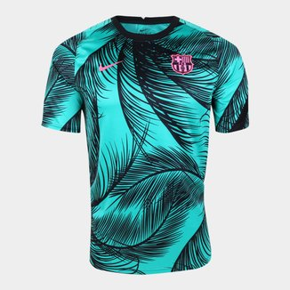 Camisa Barcelona Pré Jogo 20/21 Nike Champions League Masculina