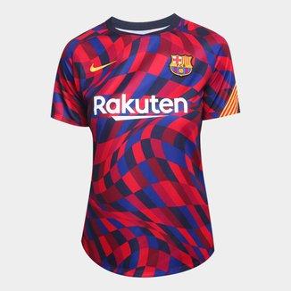 Camisa Barcelona Pré-Jogo 20/21 Nike Feminina