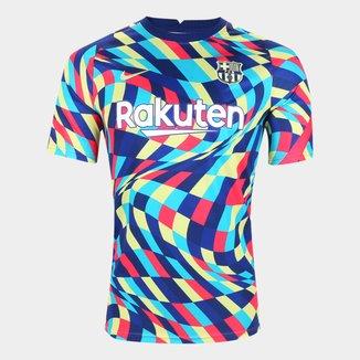 Camisa Barcelona Pré-Jogo 20/21 Nike Masculina