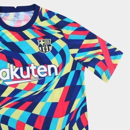 Camisa Barcelona Pré-jogo 20/21;