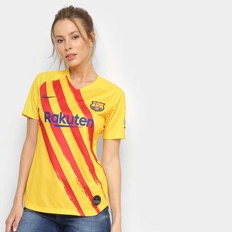 Camisa Barcelona Senyera 19/20 Nike Edição Limitada - Feminina