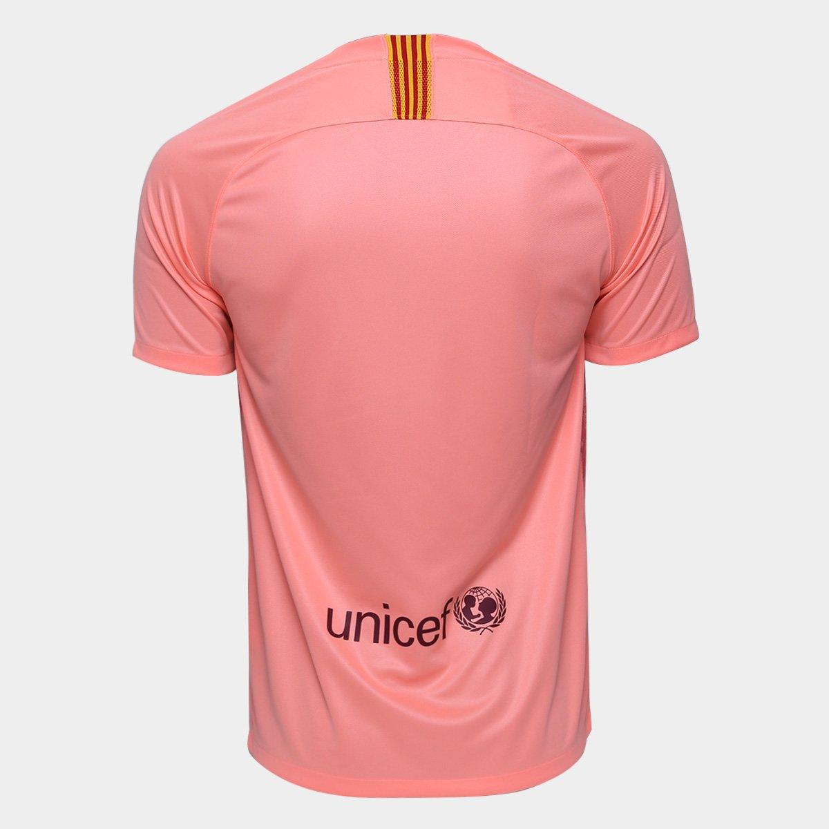 Camisa Barcelona Third 2018 s nº - Torcedor Nike Masculina - Salmão ... 54b43100b5c97