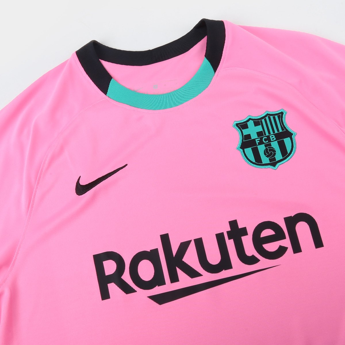 Camisa Barcelona Third 20 21 S N Torcedor Nike Masculina Rosa E Preto Netshoes